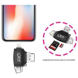 4 in 1 iDragon Multi-OS Card Reader