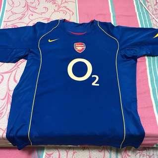 Arsenal Nike jersey 2004 away jersey O2 sponsor XL size