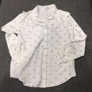White blouse with ribbons details $8 nett