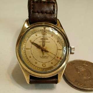 Enicar 古董手錶,值得收藏之選和自用,年份悠久,估計超過40年,少有的手動上錬運行,boy size,男女合用