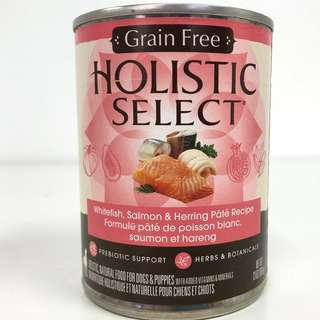 Holistic Select – Grain Free Whitefish, Salmon & Herring Pate Canned Dog Food (Improved Formula)