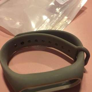 電子產品配件:小米手環2 手帶 灰配白