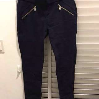 H&M black zip pants