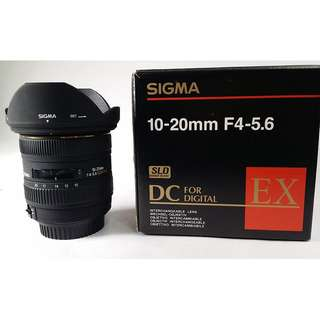 Sigma 10-20mm F3.5 EX DC HSM  for Canon CL001