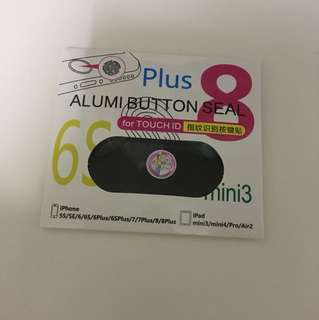 Apple iPhone iPad alumi button seal alice 愛麗絲 指紋貼