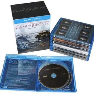 Game Of Thrones Season 1 To 7 Complete Bluray boxset | 30 Discs