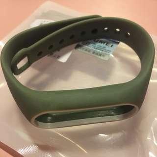 電子產品配件:小米手環2 手帶 軍綠配白
