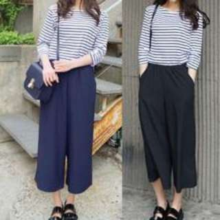 Women Wide Leg Pants With Pocket