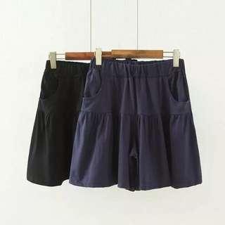 (XL~4XL) Women Korean leisure sports pants summer fashion loose shorts skirt pants