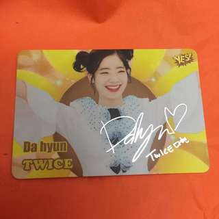 Dahyun Twice Yes! Card