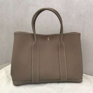 Hermes 36cm Garden Party Etoupe 大象灰