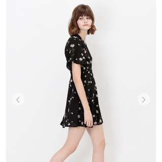 Aforarcade VIOLA FLORAL DRESS IN BLACK
