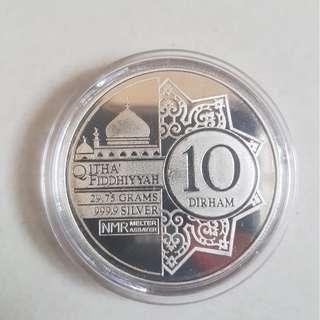 3 X 10 Dirham Silver Coin