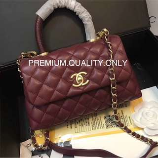 Chanel real snap coco handle bag