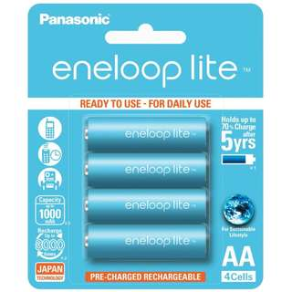 Panasonic Eneloop Lite 4 x AA Rechargeable Batteries