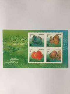 Singapore 2002 Freshwater Fishes High Value MS! Mnh