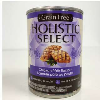 Holistic Select – Grain Free Chicken Pate Canned Dog Food (Improved Formula)