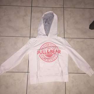 Hoodie/ Sweater Pull&Bear Putih Pink