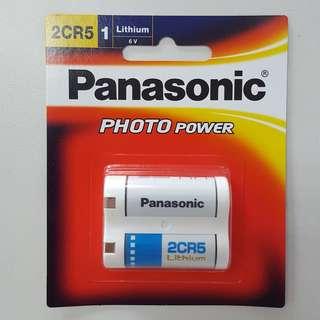 Panasonic 2CR5 6V Lithium Battery 1-PC Pack