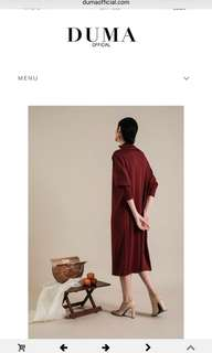 DUMA shaora maroon dress