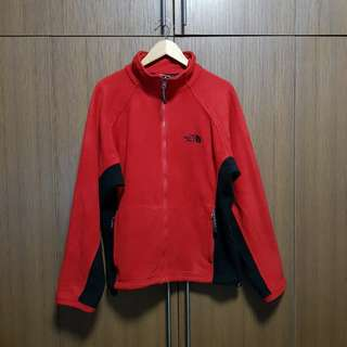 The North Face Men's Red Full Zip Fleece Jacket