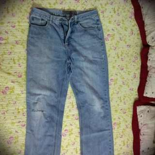 Giordano ripped light blue jeans Size 29 #DEC50