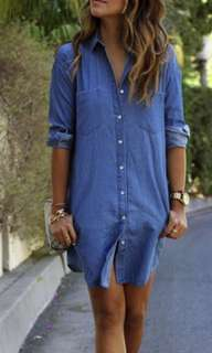👚denim oversized style blouse👚