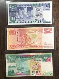 $1 $2 $5 Ship 1st Prefix A/1 AA