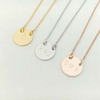 [PREORDER] Custom Engraved Personalised Initials Coin Necklace