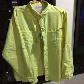 A yellow Columbia PFG shirt