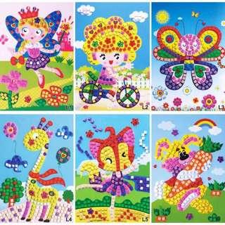 EVA Sticker, Diamond Sticker, Kids Party Door Gift, Birthday goodie