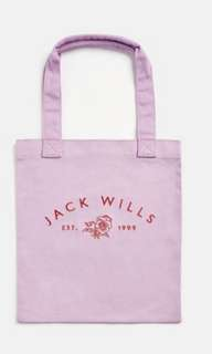 Brand new with tag authentic Jack Wills purple Ambleshire book tote bag
