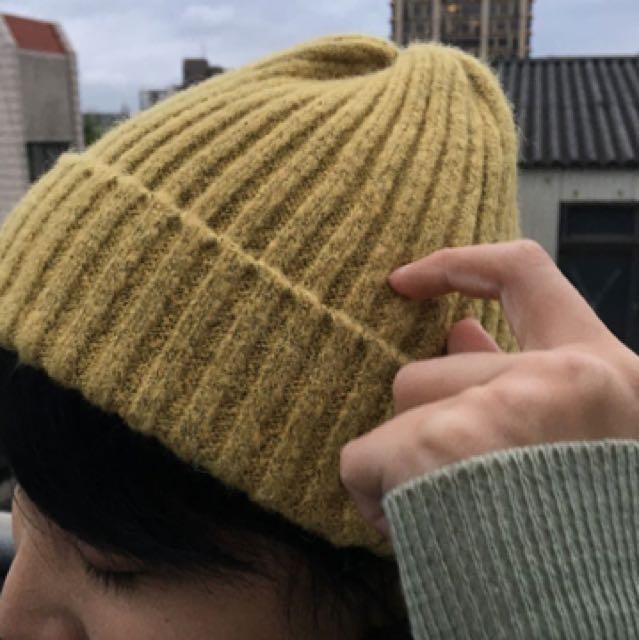 薑黃混織毛帽