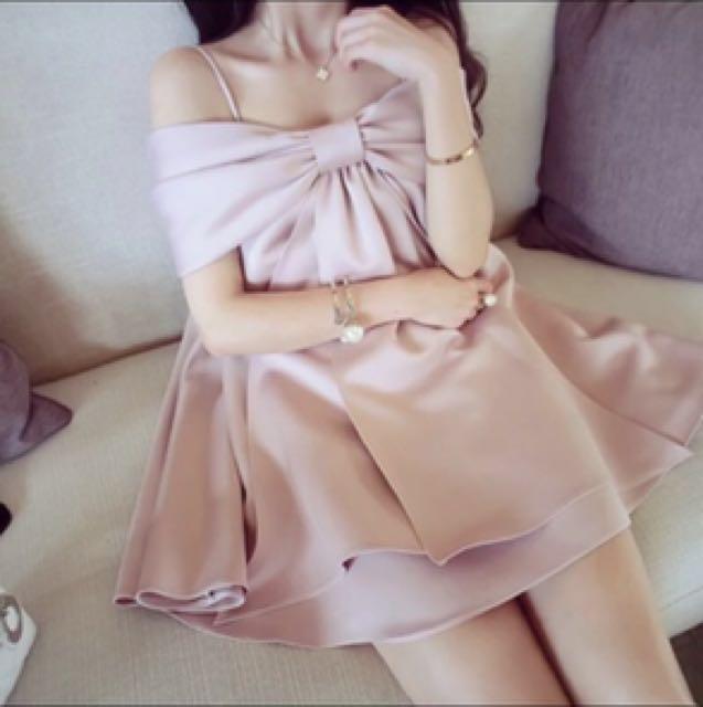 正韓蝴蝶結洋裝