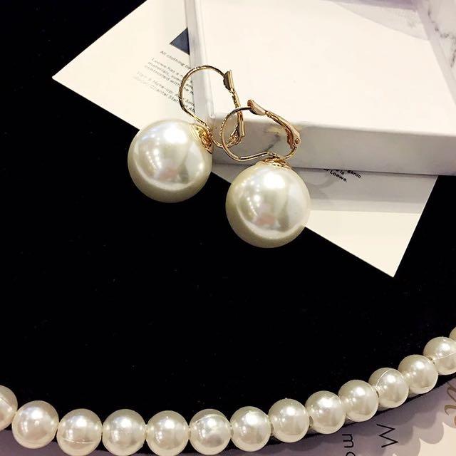 韓 簡約 復古 氣質 珍珠 耳環 預購