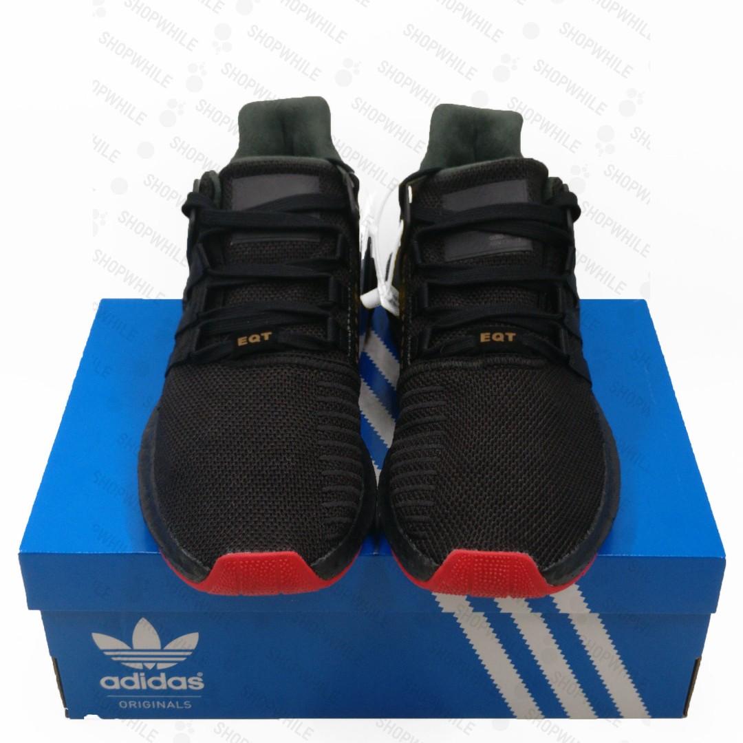 official photos fa517 087df adidas EQT Equipment 9317 Boost Triple Black Red Carpet Pack (CQ2394),  Mens Fashion, Mens Footwear on Carousell