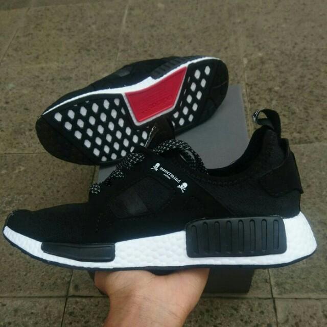 e9b071d586494 Adidas NMD XR1 x mastermind japan black white premium quality