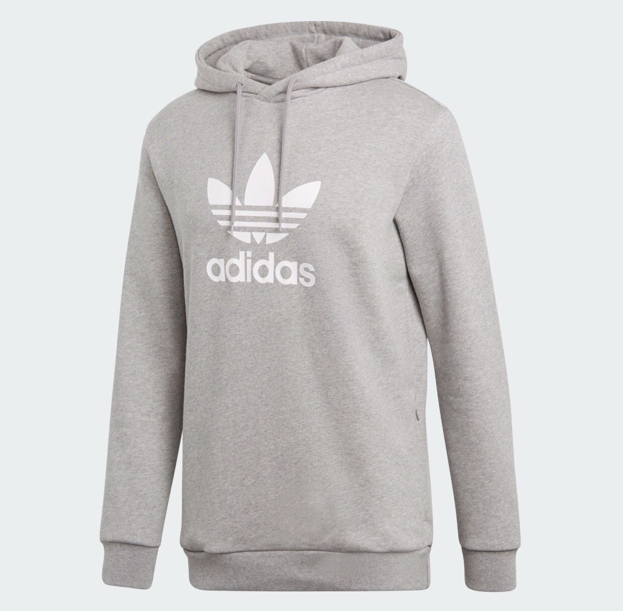 31a08458bdf43e Adidas Originals Adicolor Hoodie With Trefoil Logo GREY, Men's Fashion,  Clothes on Carousell