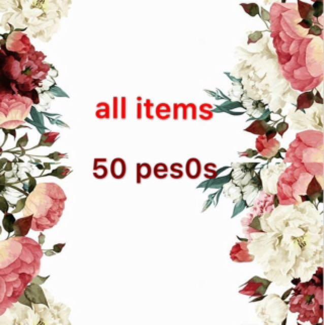 all items 50pesos