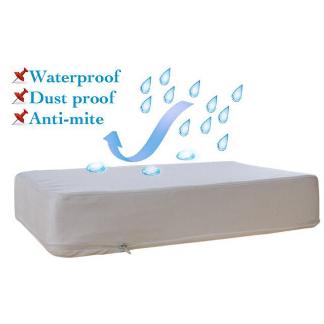 Anti Bedbug Waterproof Mattress Cover With Zipper