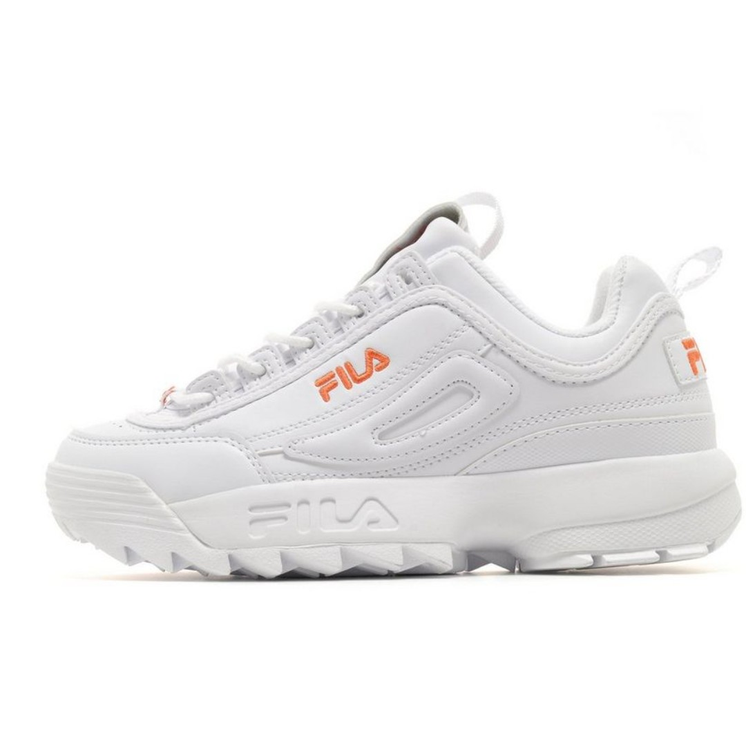 291a499e36e8 Authentic Fila Disruptor II Women s White   Orange