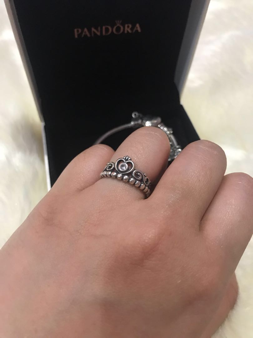 82d07c2b2 ... promo code for authentic pandora tiara ring size 5 luxury accessories  on carousell 4b199 c5ce0