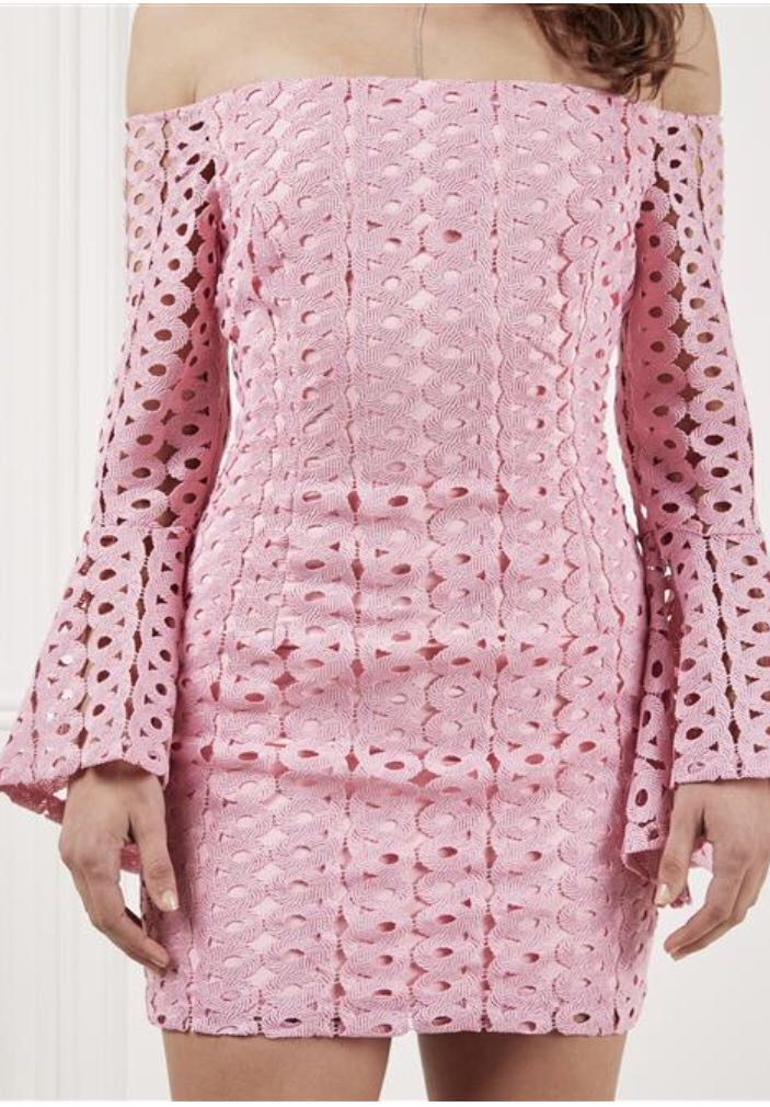 Bardot Celeste Lace Dress Marsh Pink