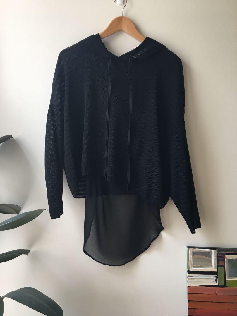 Black chic hoodie