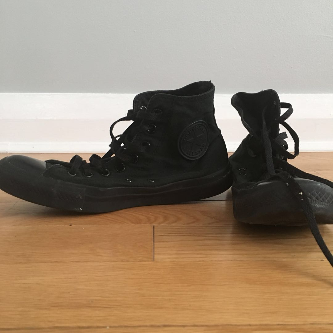 Black Chucks High Top Converse Size 9W