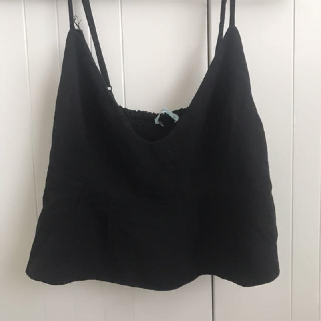 Black crop top kookai