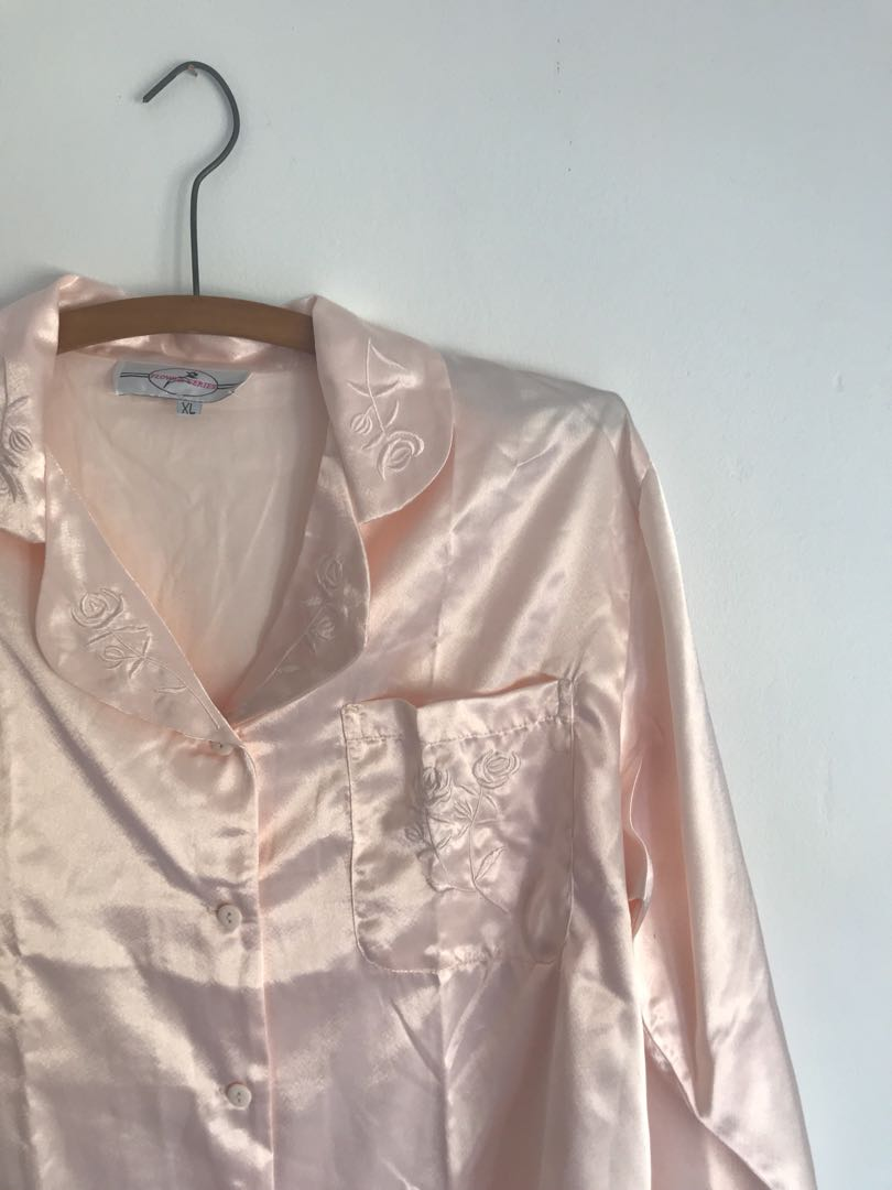 Blush pink embroidered top
