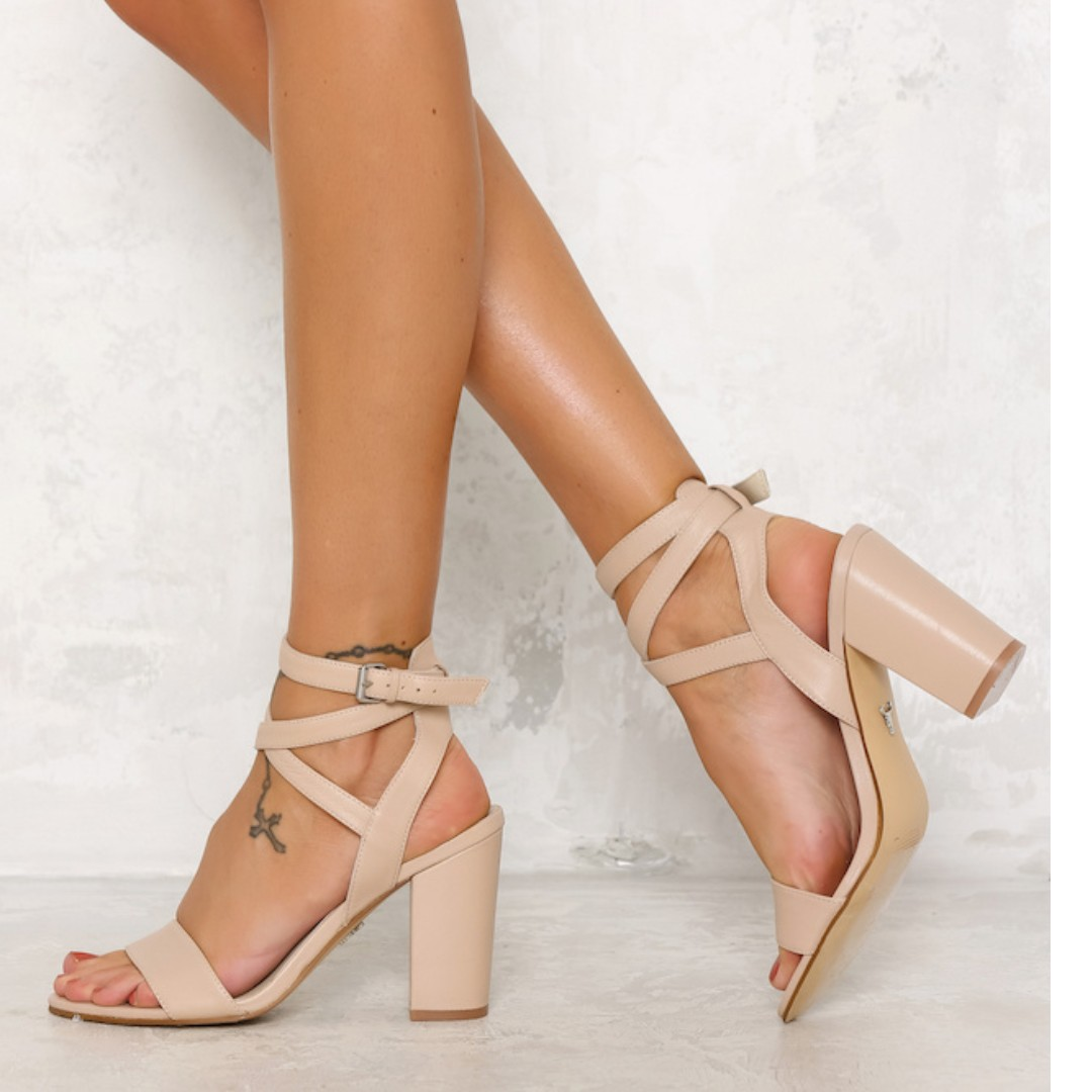 Brand new windsor smith nattie heel nude blush