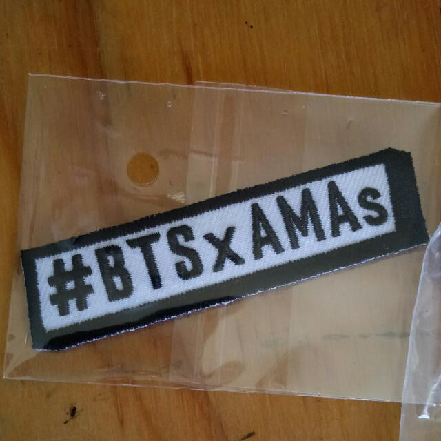 BTS X AMA PATCH AND PIN SET BRAND NEW