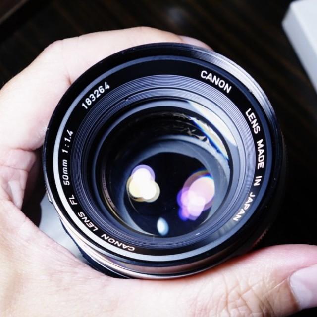 Canon 50mm f1.4 FL 鏡頭